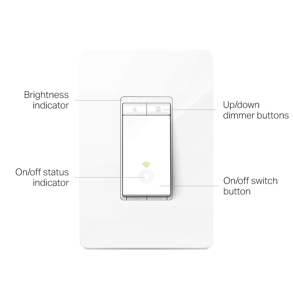 TP-LINK HS220P3 Kasa Smart WiFi Light Switch (3-Pack), Dimmer by TP-Link - Dim Lighting from Anywhere, Easy In-Wall Installation (Single-Pol Only), Compatible with Alexa and Google Assistant, White by TP-LINK (Image #3)