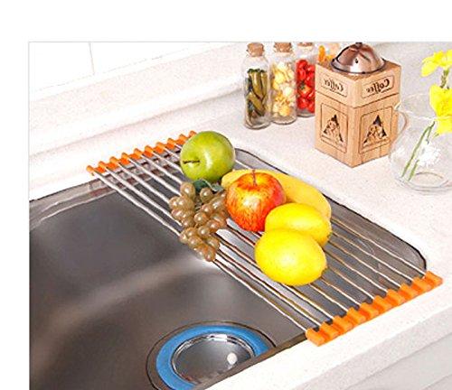 Stainless Steel Shelf Sink Rack /Portable Folding /Chef Bud