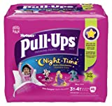 Huggies Pull-Ups Night-time Training Pants, Size 3T - 4T, Girl, 46 Count (Pack of 2)