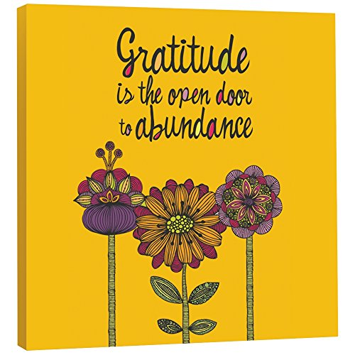 Tree-Free Greetings EcoArt Home Decor Wall Plaque, 11.25 x 11.25 Inches, Gratitude Is The Open Door Themed Art (85542)