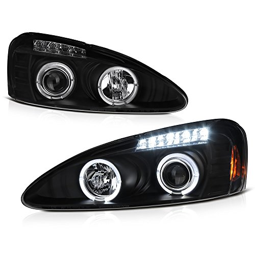 VIPMotoZ 2004-2008 Pontiac Grand Prix Halo Headlights Headlamps, Driver and Passenger Side