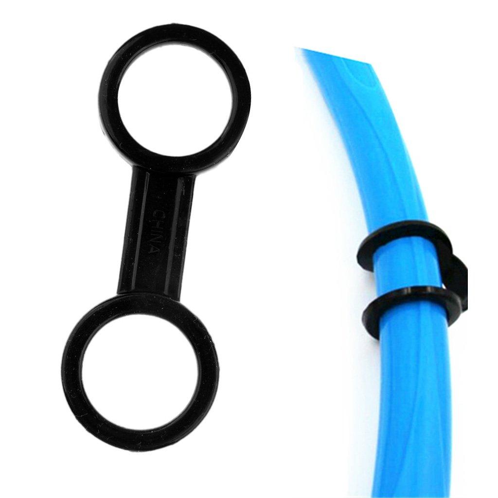 Sharplace Silicone Scuba Dive Immersione Subacquea Mask Strap Retainer Holder Supporto Snorkel Keeper Holder Nero