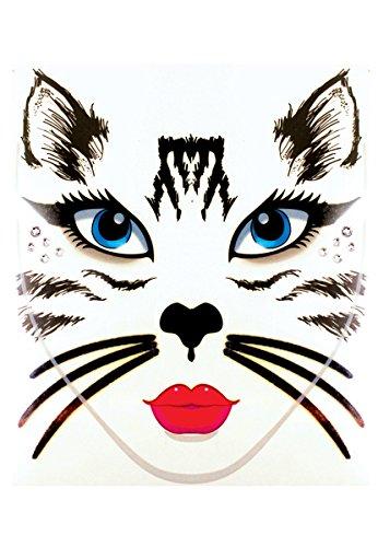 Halloween Black Cat Makeup (Face Decal Cat)