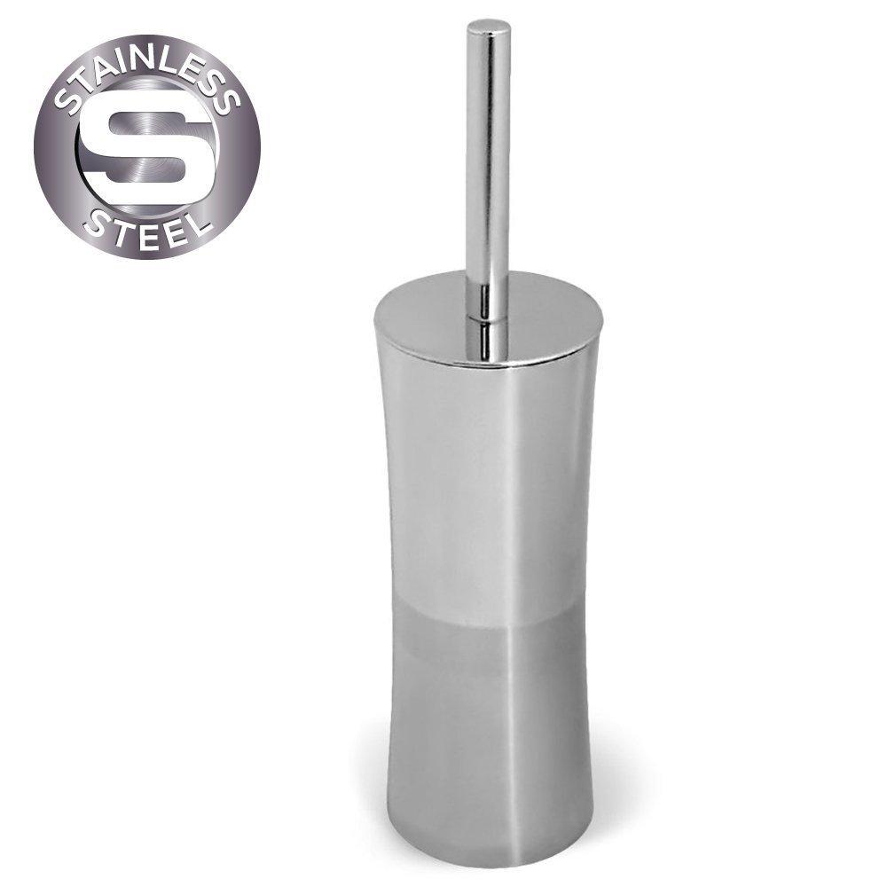 Tatkraft Olivia Toilet Brush Holder Stainless Steel FBA_11090