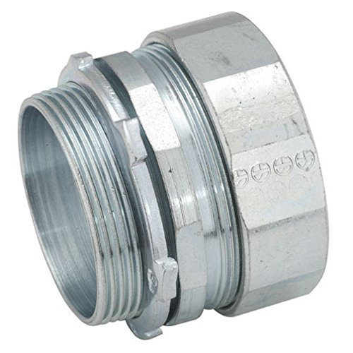 (Hubbell-Raco 1808-1 Connector, Compression, 2-Inch Trade Size, Rigid/IMC Conduit, Steel)