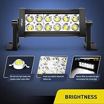 Nilight 36W LED Light Bar Spot LED Lights Led Bar Driving Fog Lights Jeep Off Road Lights, 2 Years Warranty: Automotive