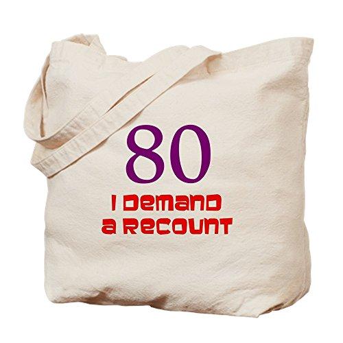 CafePress–divertido 80th cumpleaños–Gamuza de bolsa de lona bolsa, bolsa de la compra Small caqui