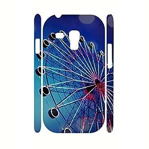 Fancy View Series Retro Ferris Wheel Photographic Hard Plastic Phone Skin for Samsung Galaxy S3 Mini I8200 Case