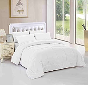 Unique Home Queen Comforter Duvet Insert White All Season Alternative Goose Down Comforter Plush Fiberfill