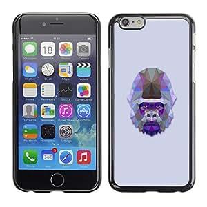 Super Stellar Slim PC Hard Case Cover Skin Armor Shell Portection // V0000533 Triangle Gorilla Design// Apple iPhone 6 Plus 5.5