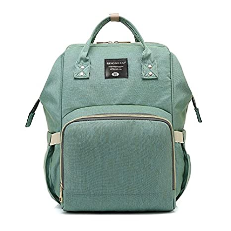 Multi Function Backpack Travel Backpack Baby Nappy Changing Mommy Bags Light Green Diaper Bag