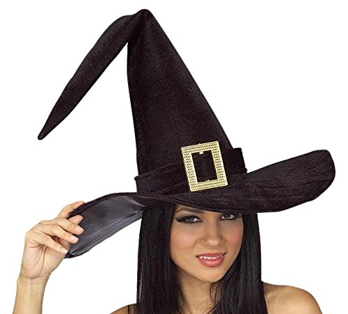 3105855812f Amazon.com  Rubie s Women s Black Witch Hat With Buckle