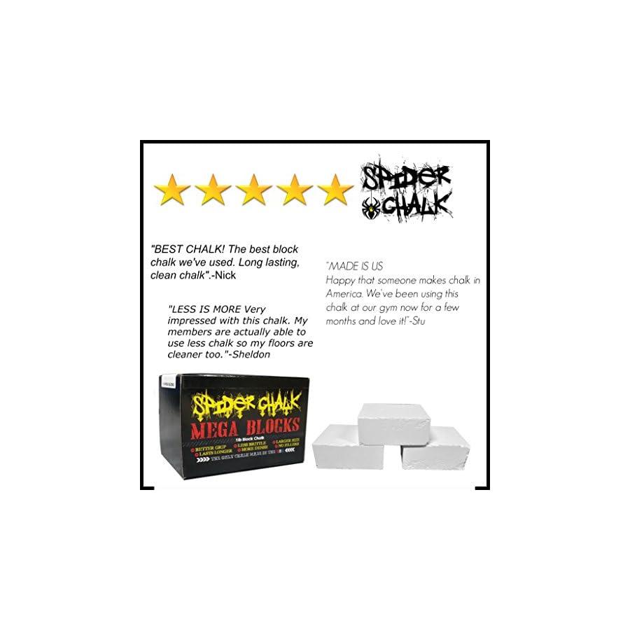 99/% Pure Spider Chalk Mega Blocks USA Made Weightlifting Block Chalk