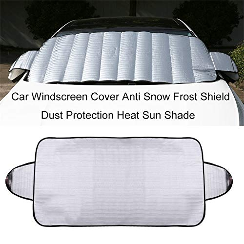 camellia-uk Practical Car Windscreen Cover Anti Ice Snow Frost Shield Dust Protection Heat Sun Shade Ideally for Front Car Windshield