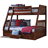 Product review for American Furniture Classics Merlot Solid Pine Twin-over-full 3-drawer Bunk Bed with Desk