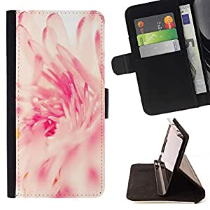 Momo Phone Case / Flip Funda de Cuero Case Cover - Rosa Blanco Sun Vignette Primavera - LG Nexus 5 D820 D821