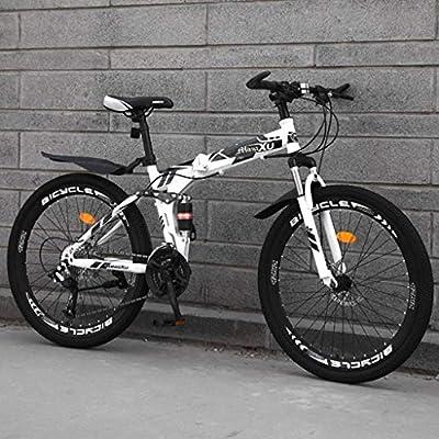 26 Inch Bicicleta MTB Plegable Amortiguadores Bicicleta De Montaña Plegable Folding Bicicleta Plegable Doble Disco Frenos Bicicleta Montaña Velocidad Variable Unisex Bicicleta Urbana-27Velocidades-G: Amazon.es: Deportes y aire libre
