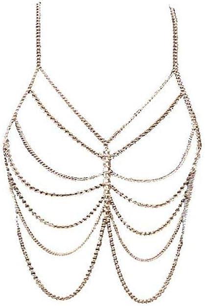 Bijoux chaîne de taille doré corps 88 à 94 cm bijoux corps