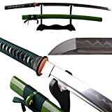 Shijian Samurai Swords Katana Clay Tempered by High Carbon Steel Folded Hamon