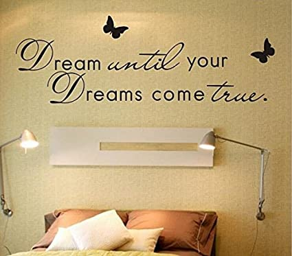 Trfhjh Quotes Wall Sticker Home Art DIY Letter Dreams. Poem Wall Sticker Living  Room Quotes