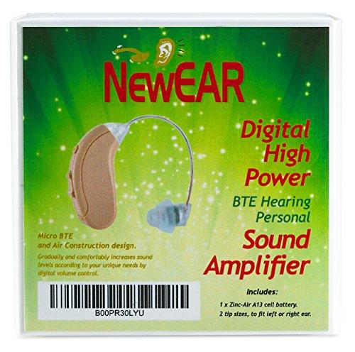 "NewEAR Digital High Power BTE Hearing Personal Sound Amplifier ""NEW RELEASE"""