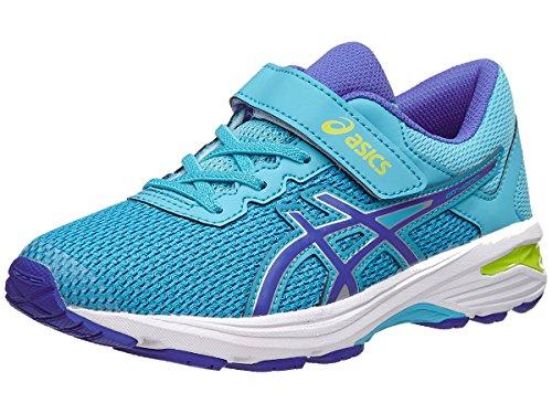 Asics Unisex Kids Gt 1000 6 Ps Running Shoes  Aquarium Blue Purple Lime  K12 Medium Us Little Kid