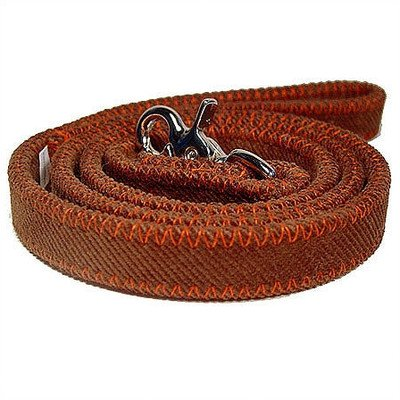 Corduroy Blanket Stictched Dog Leash Color: Orange