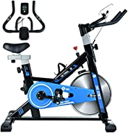 CMC Exercise Spin Bike Indoor Stationary Bicycle with Comfortable Seat Cushion for Home Gym