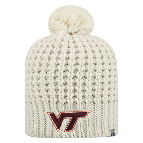 Top of the World Virginia Tech Hokies Official NCAA Uncuffed Knit Slouch 1 Beanie Hat 477411 -  SLCH1-VATC-UKT-CRM