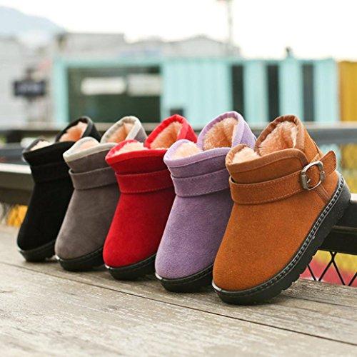 Warme Lila Mädchen Schnürsenkel Schuhe Stiefel Sport Halten