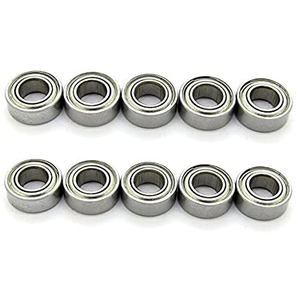 50 PCS MR84-2RS 4x8x3 mm Rubber Double Sealed Ball Bearing Bearings MR84RS