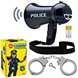 Born Toys Police Megaphone and Handcuffs for Policeman Costume or FBI,SWAT,and Detective Role Play (Batteries Included)