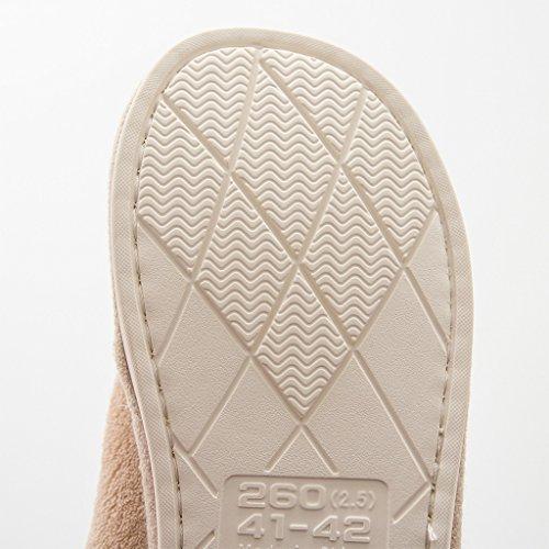 Zapatillas DWW Algodón Acolchado Invierno Mujeres Antideslizantes Zapatos de Confort Interior y Exterior Pink