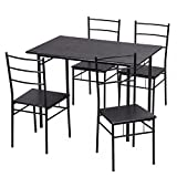 5 Pcs Dining Table Set Kitchen Room Table and 4 Chairs