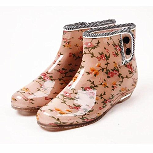 Y gelatina Botas botas primavera zapatos de deslizamiento de cortas de de otoño lluvia 5 zapatos jardín mujer amp;JAXIE y de de Xv5xrXqw