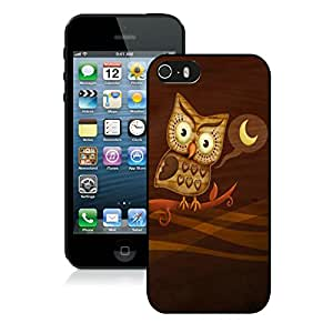 Popular Designed Case With Night Owl Hoo Cover Case For iPhone 5S Black Phone Case CR-473
