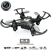 6 Axis Gyro 2.4Ghz Mini Small Quadcopter Drone with Camera 0.3MP Camera Video Altitude Hold One Key Take Off