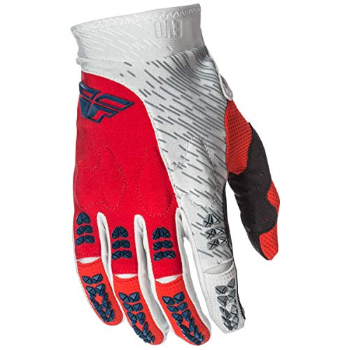 Fly Racing 2018 Evolution 2.0 Gloves (LARGE) (RED/GREY)
