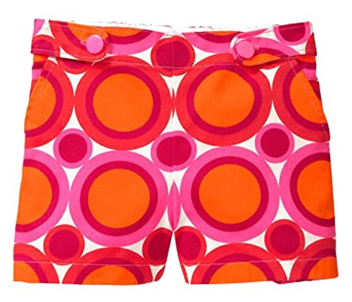 Baby Gap Toddler Girls Bright Orange Pink Circle Shorts 5 (Orange Mod Circles)