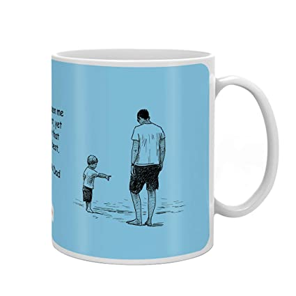 Indigifts Dad Birthday Gifts Love You Quote Blue Coffee Mug 330 Ml