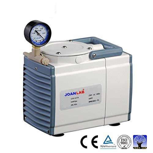200 Psi Adjustable Pump (Oilless Diaphragm Vacuum Pressure Pump, 20L/min, 200 mbsr, 1 Year Warranty by JoanLab)