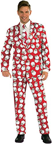 Forum Novelties Men's Santa Suit Costume, Multi, One Size (Santa Claus Costumes For Sale)