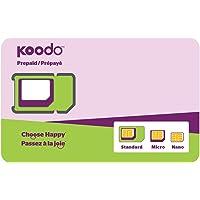 Koodo Mobile Prepaid Sim Card/Carte SIM Koodo Prépayé