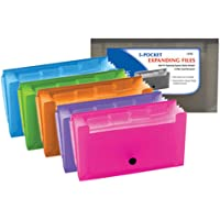 BAZIC 13-Pockets Coupon/Personal Check Size Expanding File for School, Home, or Office Organization (Assorted Colors)