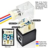Tailonz Pneumatic Solenoid Valve 4V210-08 DC12V 1/4 PT Single Coil Pilot-Operated Electric 2 Position 5 Way Connection Type