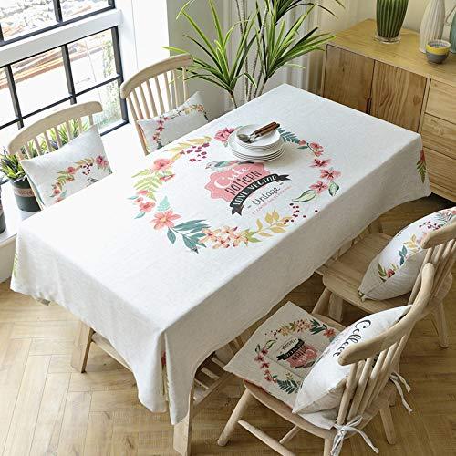 A 140220cm Myzixuan Tissu coton, tissu de chanvre rectangulaire huile-preuve ménage hotel nappe de table