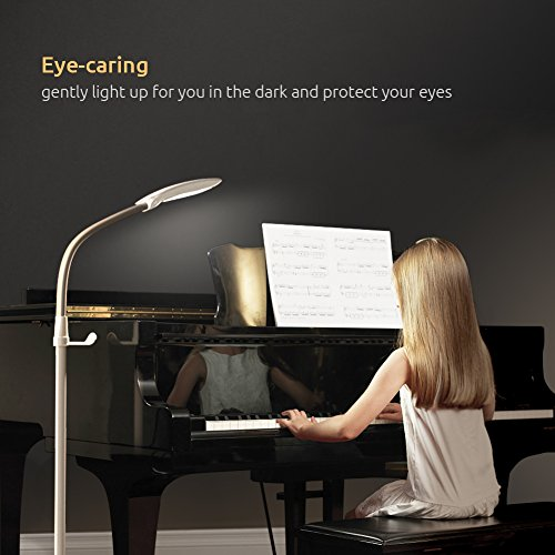-[ Aglaia Floor Lamp Dimmable, 11W(100W Equivalent)LED Touch Lamp with 3 Lighting Modes and 4 Level