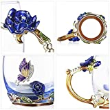 Handicraft Crystal Glass 3D Flower Cups Tea Mug