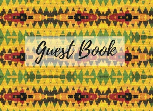 Search : Guest Book: (African Fabric (14), Event Guest Book, For Events, Anniversary, Retirement Party, Wedding, Birthday,101 pages - [Professional Binding]