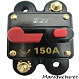 Car Audio Circuit Breaker Reset Fuse 150A For System Protection 12V/24V